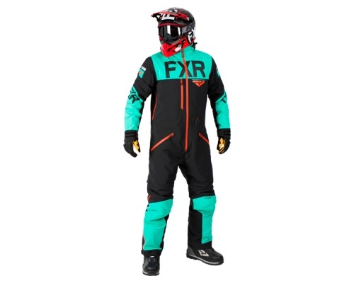 Комбинезон FXR Helium без утеплителя Black/Mint/Nuke Red 182800-1052