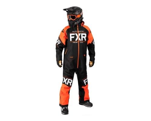 Комбинезон FXR Clutch с утеплителем Black/Orange 182812-1030