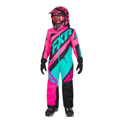 Комбинезон FXR CX с утеплителем Elec Pink/Mint/Black 193000-9452