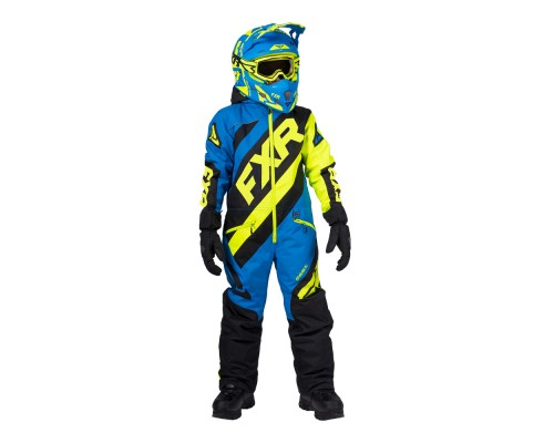 Комбинезон FXR CX с утеплителем Black/Blue/Hi Vis 203000-1040