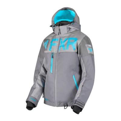 Куртка FXR Helium FX с утеплителем Char/Mid Grey/Aqua 190216-0805
