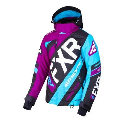 Куртка FXR CX с утеплителем Wineberry/Black/Aqua 190221-8510