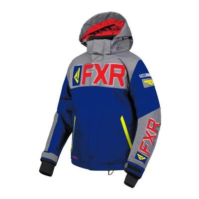 Куртка FXR Helium с утеплителем Navy/Lt. Grey/Red/Hi Vis 190408-4505