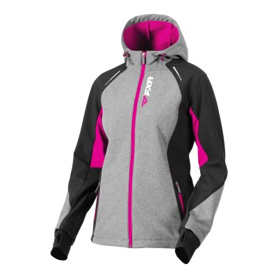 Куртка FXR Pulse без утеплителя Grey Heather/Fuchsia 191006-0790