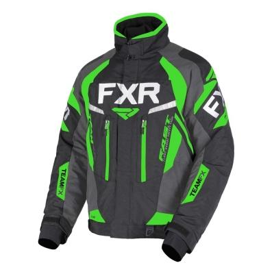 Куртка FXR Team FX с утеплителем Black/Char/Lime 190000-1070