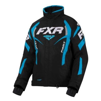 Куртка FXR Team RL с утепленной вставкой Black/Sky Blue 200204-1053