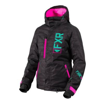 Куртка FXR Fresh с утеплителем Black Heather/Mint/Elec Pink 190206-1152