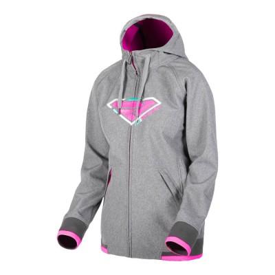 Куртка FXR Iconic Softshell без утеплителя Grey Heather/Elec Pink 191008-0794