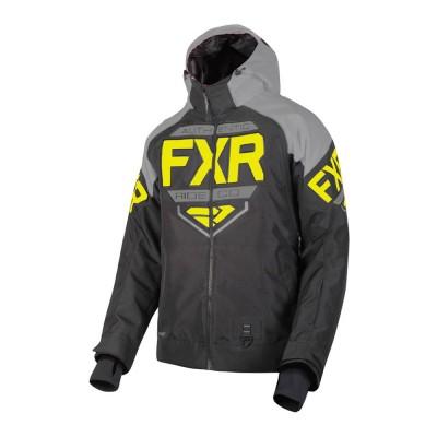 Куртка FXR Clutch с утеплителем Black/Lt Grey/Hi Vis 190011-1005