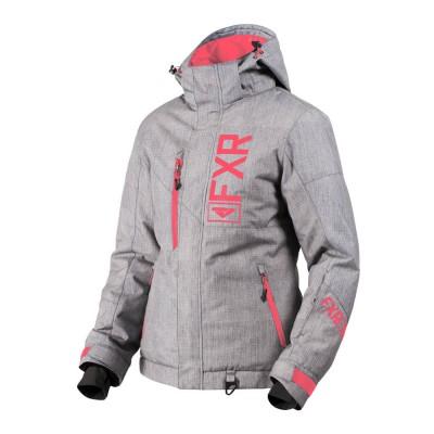 Куртка FXR Fresh с утеплителем Grey Linen/Coral 190206-0693