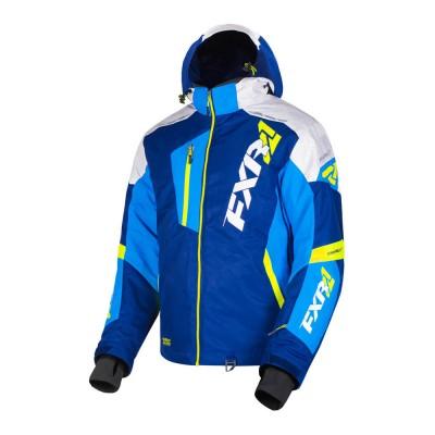 Куртка FXR Mission FX с утеплителем Navy/Blue/Hi Vis/White Weave 190031-4540