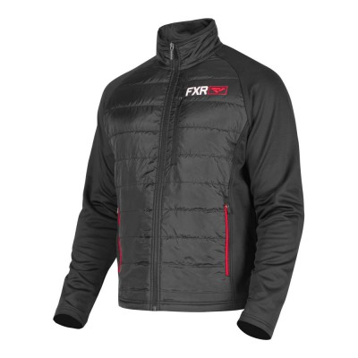 Куртка FXR Track Sweater Black/Red 191112-1020