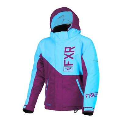 Куртка FXR Fresh с утеплителем Wineberry/Aqua 190419-8550