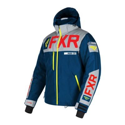 Куртка FXR Helium X с утеплителем Navy/Lt Grey/Red/Hi Vis 190038-4505