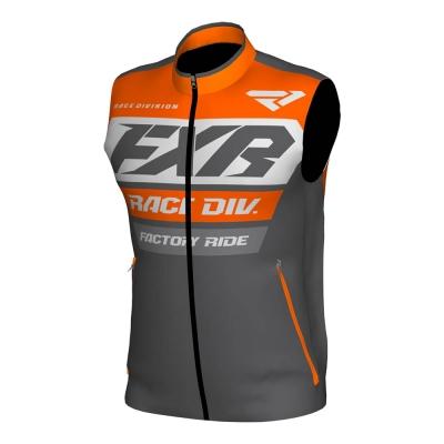Жилет FXR Race Ready с утеплителем Char/Orange/Grey 193319-0830