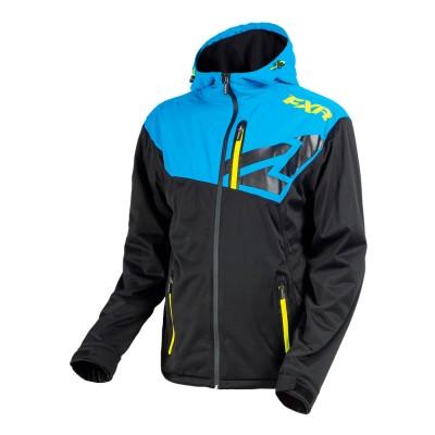Куртка FXR Clutch без утеплителя Black/Blue/Hi Vis 180908-1040