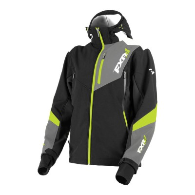 Куртка FXR Renegade без утеплителя Black/Lime 190907-1070