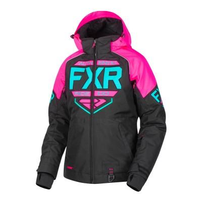 Куртка FXR Clutch с утеплителем Black/Elec Pink/Mint 190228-1094