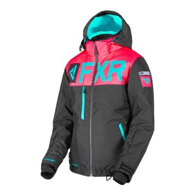 Куртка FXR Helium FX с утеплителем Black/Coral/Mint 190216-1093