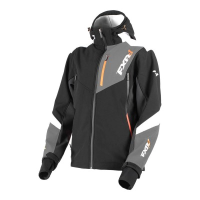 Куртка FXR Renegade без утеплителя Black/Orange 190907-1030