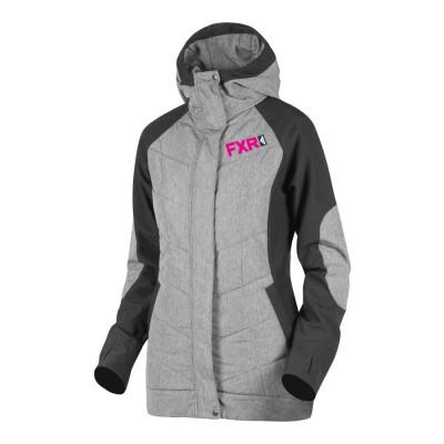 Куртка FXR Alloy с утеплителем Grey Heather/Fuchsia 191009-0790