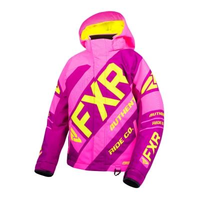 Куртка FXR CX с утеплителем Elec Pink/Wineberry/Hi Vis 190422-9485