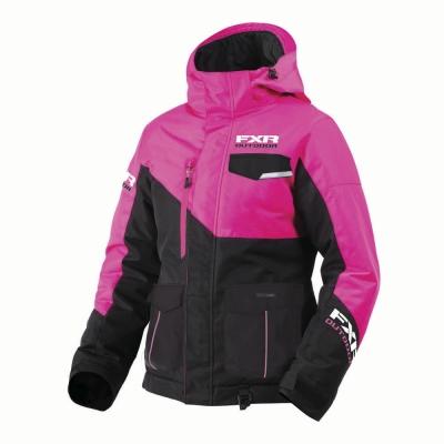 Куртка FXR Excursion с утеплителем Black/Fuchsia 180214-1090