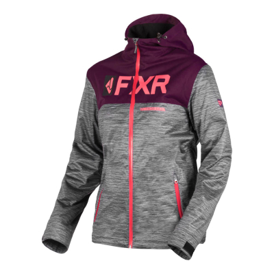 Куртка FXR Helium Dual-Laminate без утеплителя Grey Heather/Plum 191000-0782