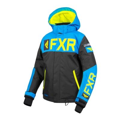 Куртка FXR Helium с утеплителем Black/Blue/Hi Vis 190408-1040