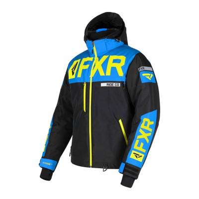 Куртка FXR Helium X с утеплителем Black/Blue/Hi Vis 190038-1040