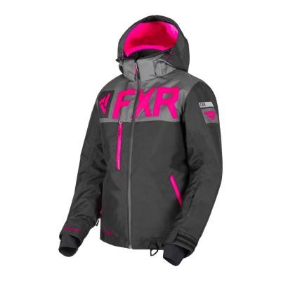 Куртка FXR Helium FX с утеплителем Black/Char/Fuchsia 190216-1008