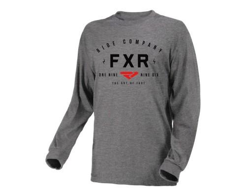 Лонгслив FXR Ride Co. Grey Heather/Red 191312-0720
