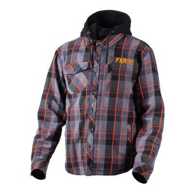 Кофта FXR Timber Plaid с утеплителем Charcoal/Orange 181107-0830