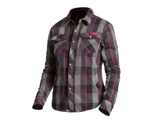 Рубашка FXR Timber Plaid Charcoal/Fuchsia 191203-0890