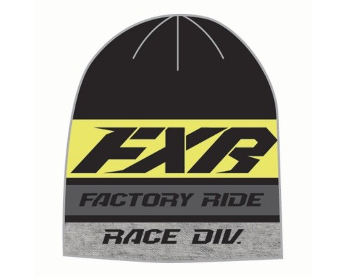 Шапка FXR Race Division Black/Hi Vis 191625-1065