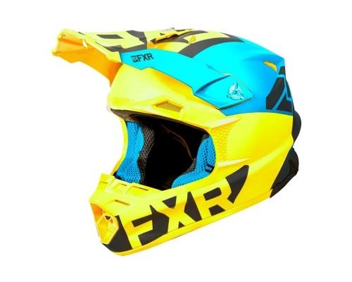 Шлем FXR Blade 2.0 Helium Blue/Hi Vis/Black 190608-4065