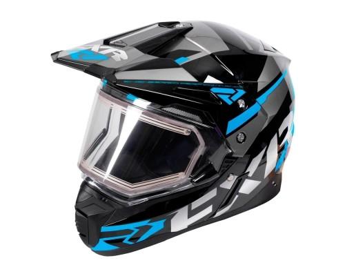 Шлем FXR Team FX-1 Black/Blue/Char 180609-1040
