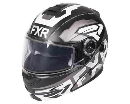 Шлем FXR Fuel Modular Evo Black/Char/White 190624-1001