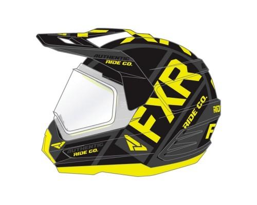 Шлем FXR Torque X Evo Black/Hi Vis 190610-1065