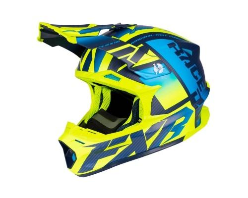 Шлем FXR Blade 2.0 Carbon Race Div Blue/Hi Vis/Navy 190603-4065