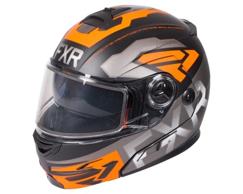 Шлем FXR Fuel Modular Evo Black/Char/Orange 190624-1030