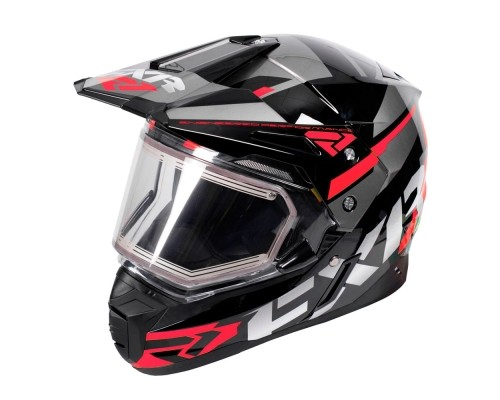 Шлем FXR Team FX-1 Black/Red/Char 180609-1020