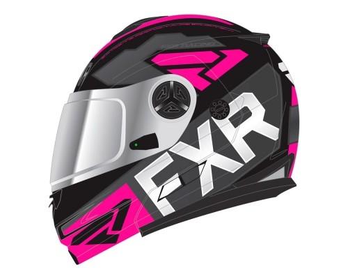 Шлем FXR Fuel Modular Evo Black/Char/Fuchsia 190624-1090