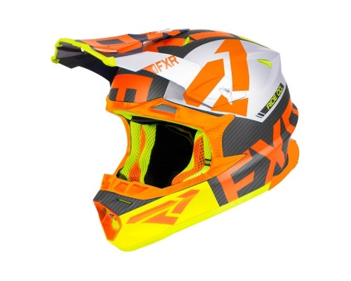 Шлем FXR Blade 2.0 Carbon Evo Black/Orange/Hi Vis/Silver 190604-1030