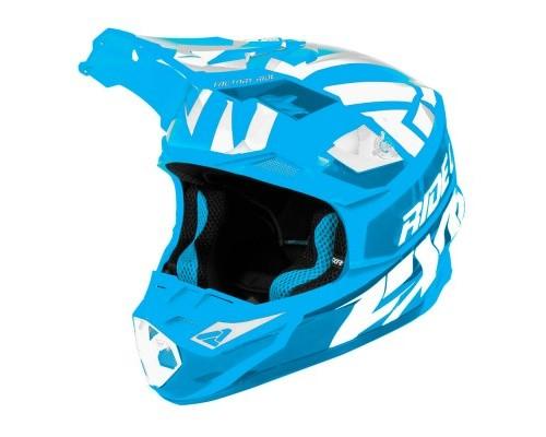 Шлем FXR Blade 2.0 Race Div Blue/White 190605-4001