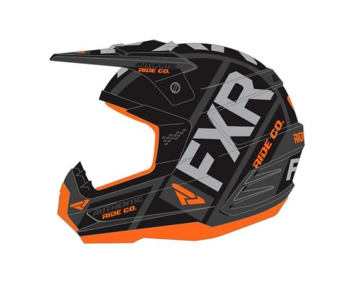 Шлем FXR Torque Evo Black/Flo Orange/Char 190621-1033